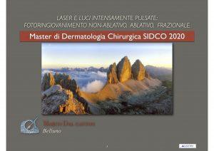 fotoringivanimento laser e IPL Master Dermochirurgia Siena 2020